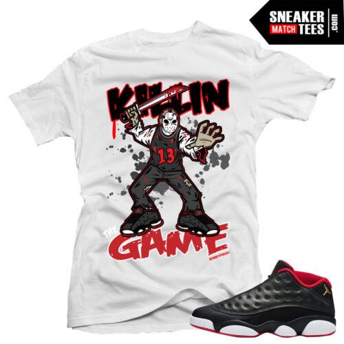 Jordan 13 low Bred matching shirt