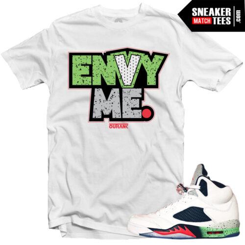 Jordan 5 shirts to match Space Jam 5s streetwear karmaloop