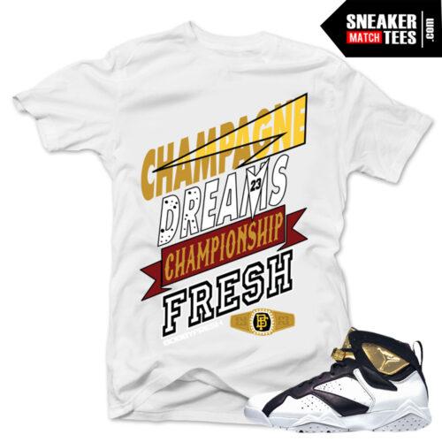 Jordan 7 Champagne matching shirt