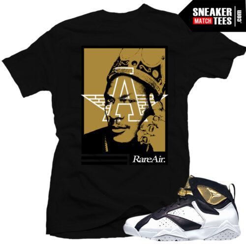 Jordan 7 Champagne matching sneaker tees shirts