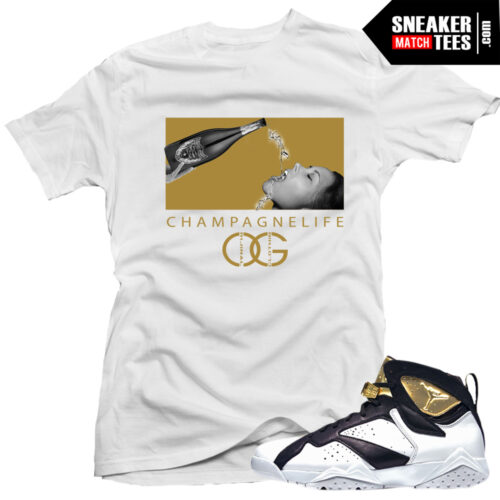 Jordan 7 Champagne shirt match Champagne 7s