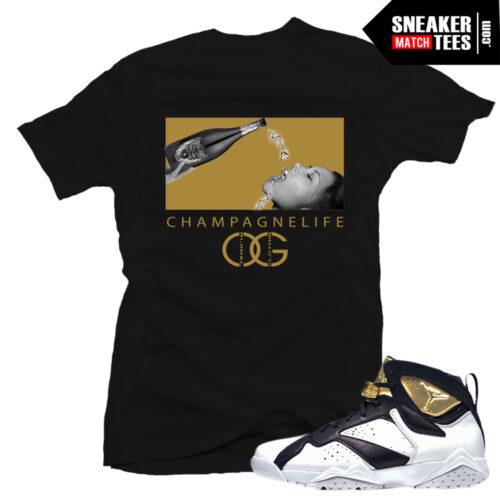 Jordan 7 champagne shirt to match