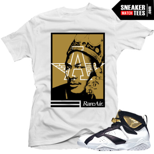 Jordan 7 Champagne sneaker tees shirt to match