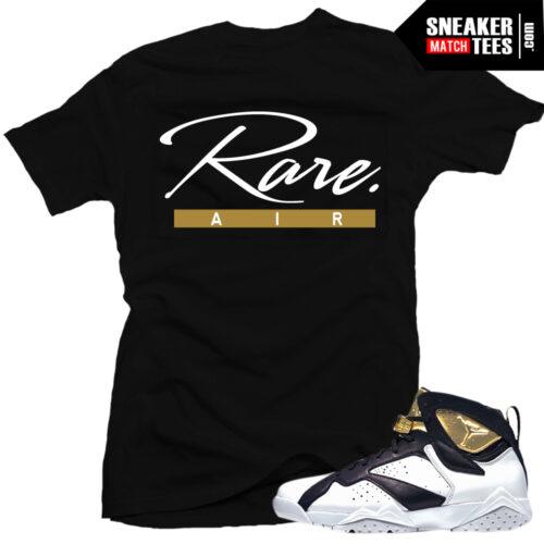 Jordan 7 Championship pack shirt to match champagne 7