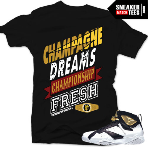Jordan 7 championship pack shirts to match