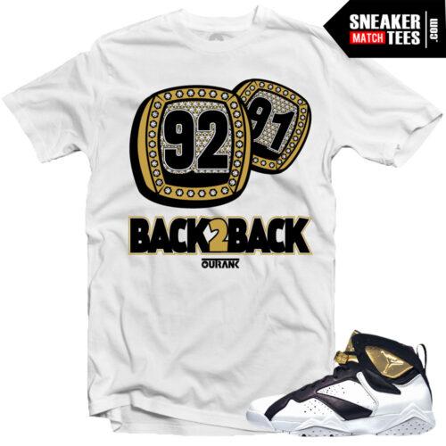 Jordan 7 Championship pack shirts to match Jordan 7 Champagne