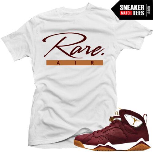 Jordan 7 Cigar matching shirt Championship pack 7 shirts