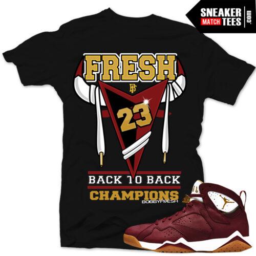 Jordan 7 Cigar shirts to match sneakers