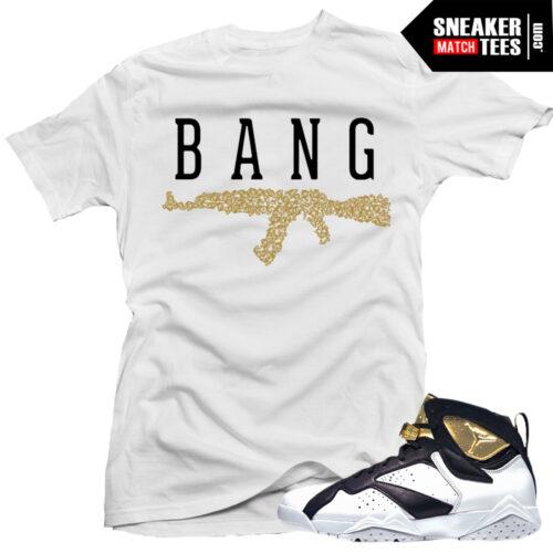 Jordan VII champagne shirts outfits sneaker tees
