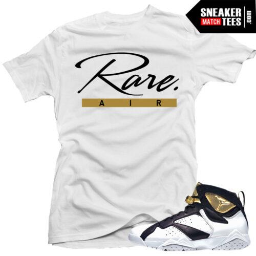 Jordan VII Champagne shirts to match