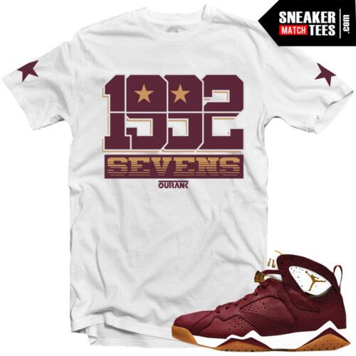 Jordan VII Cigar shirts to match Cigar 7s