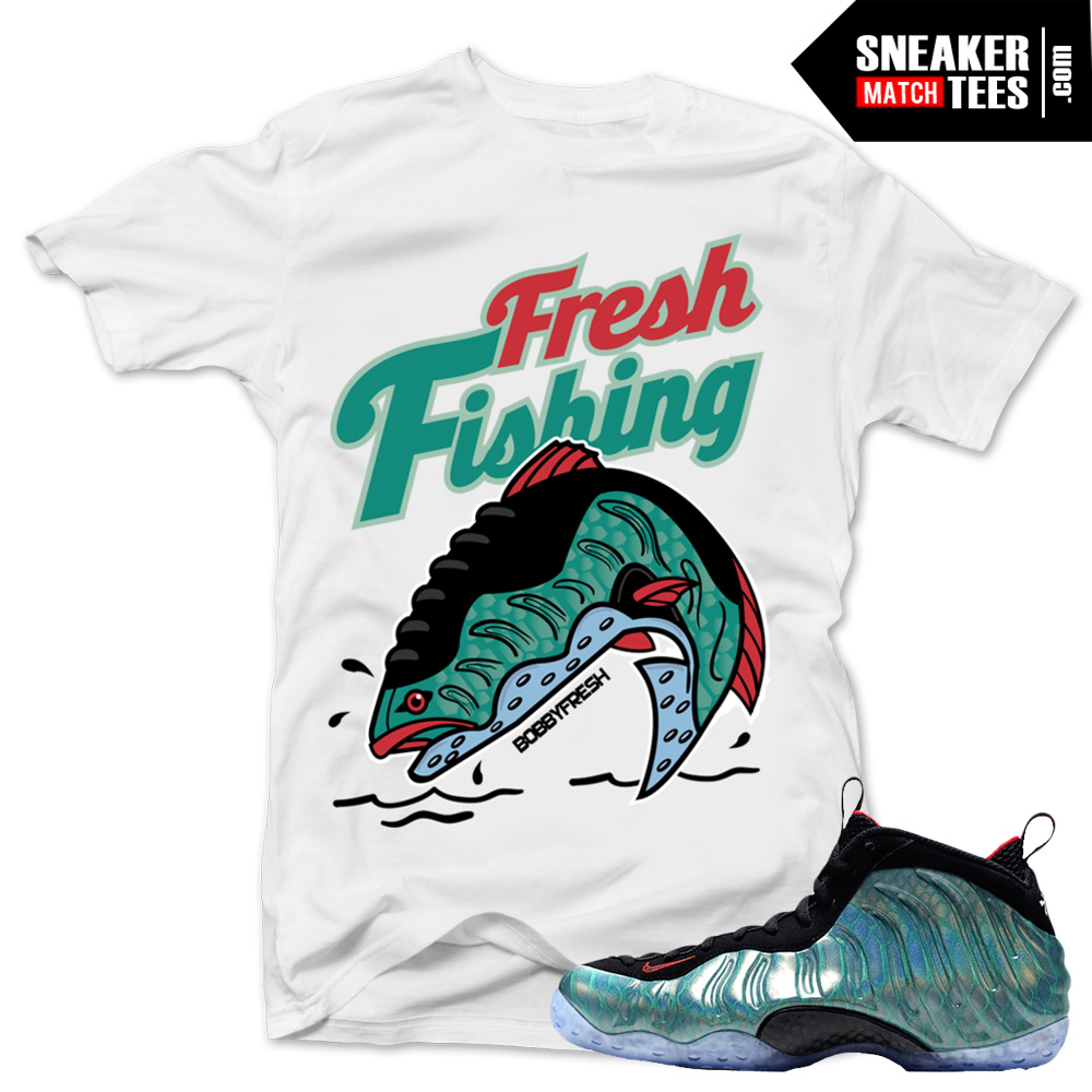 7dd7a6538c7c1d ... Gone Fishing Foamposite shirts to match  Penny Foamposite Olympic tee  ...