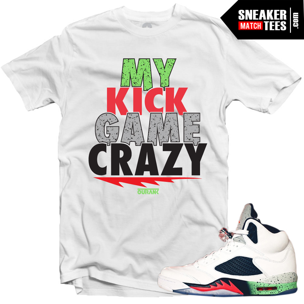 "Jordan 5 Space Jam shirts to match ""Kick Game Crazy"" White ..."