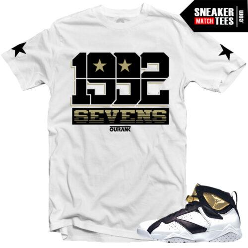 shirt to match Jordan 7 champagne championship pack