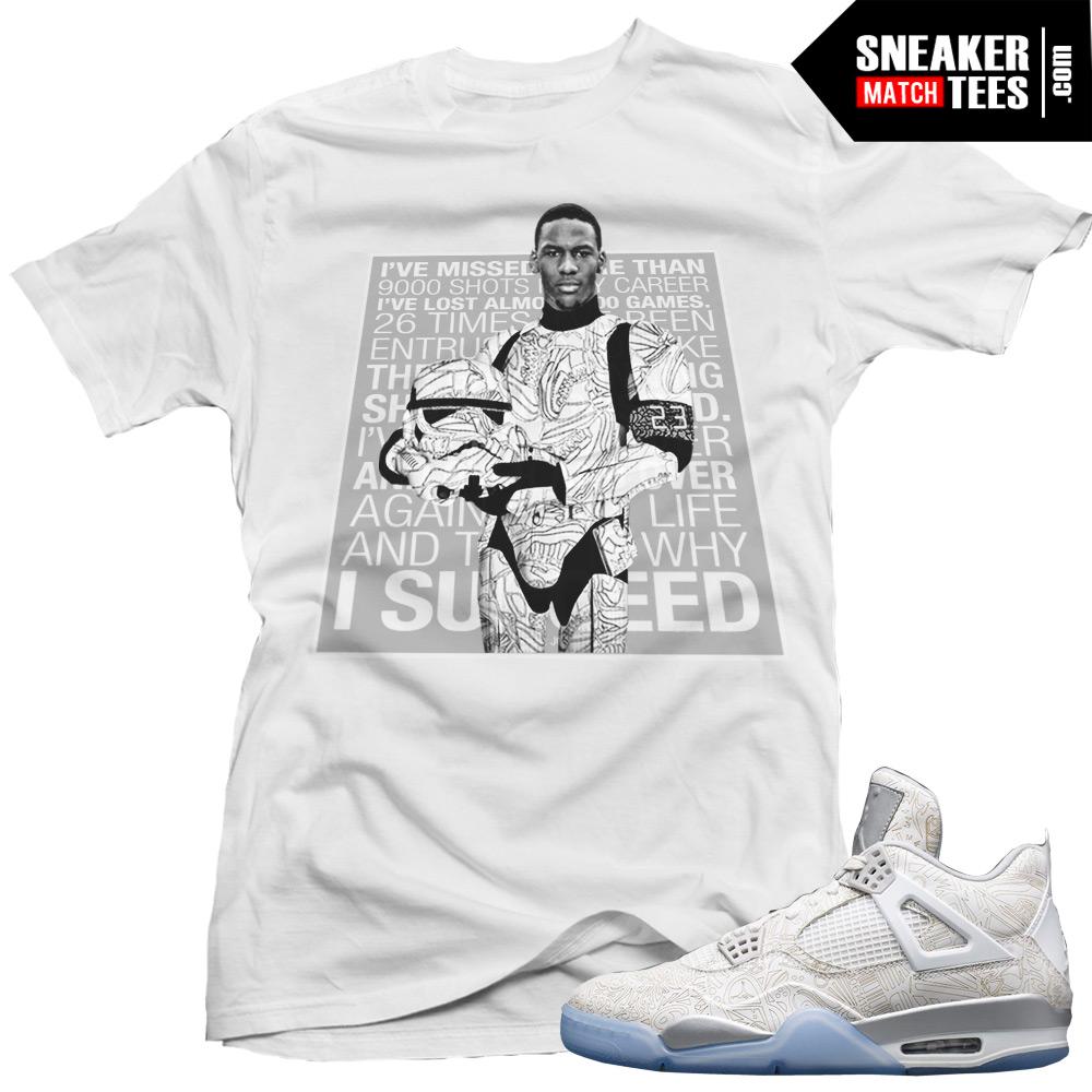 10127c3b1cee Jordan Retro 4 Laser matching shirt