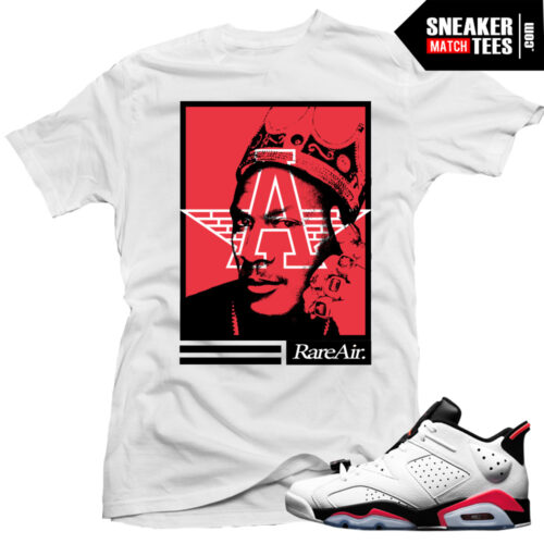 Jordan 6 white infrared shirts to match