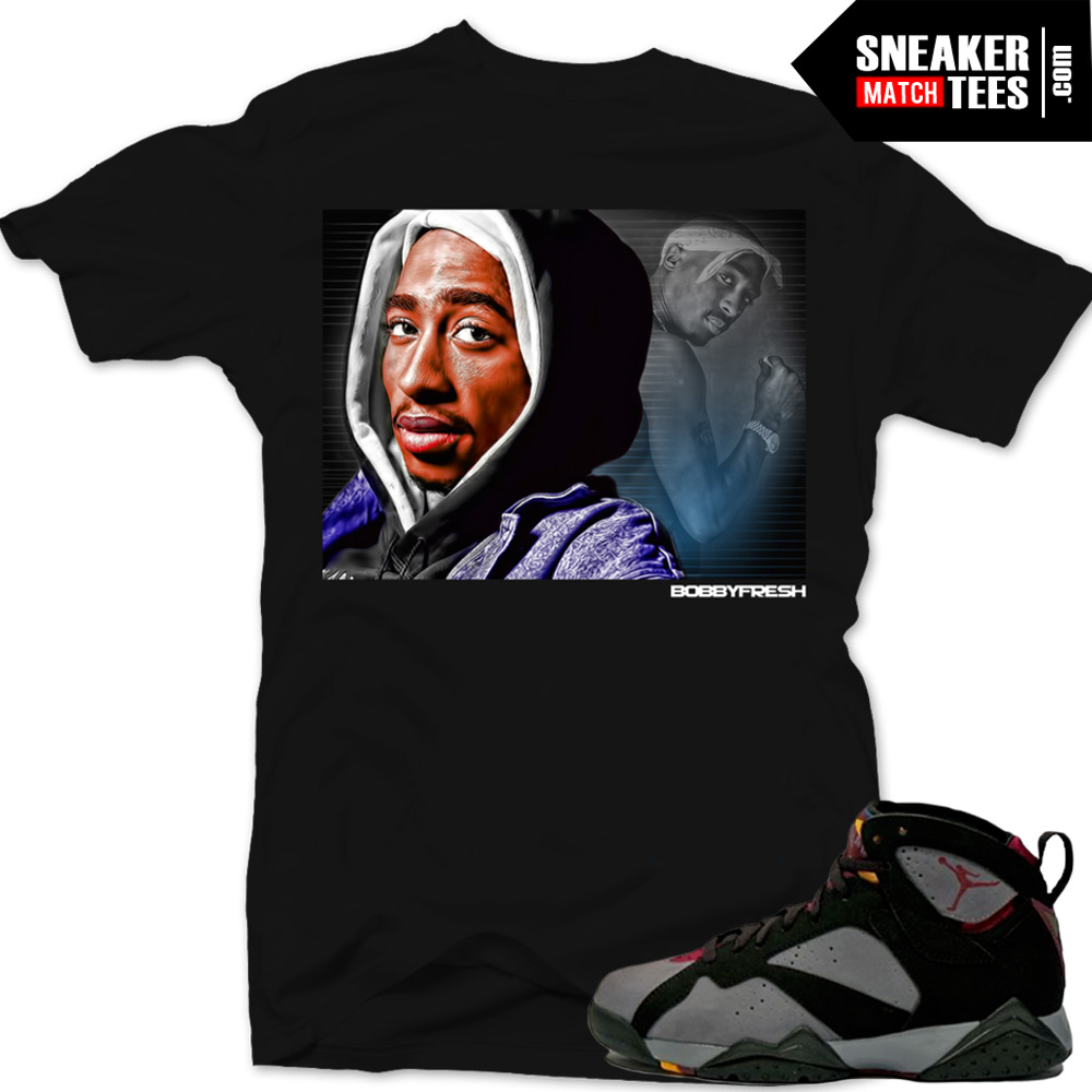 jordan 7 bordeaux shirts to match tupac tribute black sneaker tees shirt. Black Bedroom Furniture Sets. Home Design Ideas