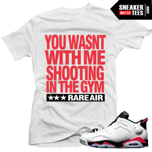 white infrared 6s low matching shirt