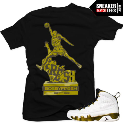 Air Jordan 9 statue matching sneaker tees shirts sneaker news