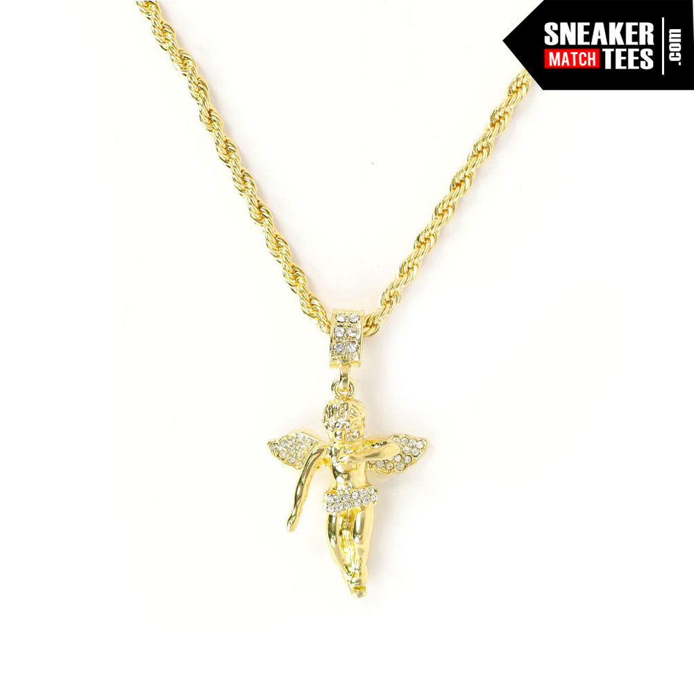Dabbin angel pendant with 24 inch chain aloadofball Images