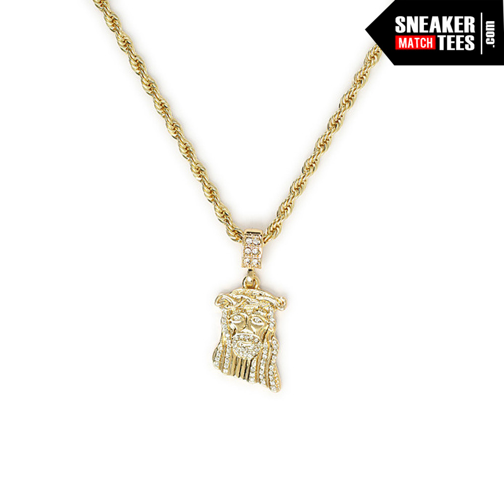 Jesus Piece Pendant with 24 inch Chain