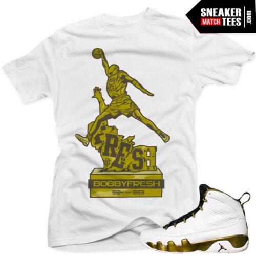 Jordan 9 Statue t shirt Sneaker news Kick on Fire
