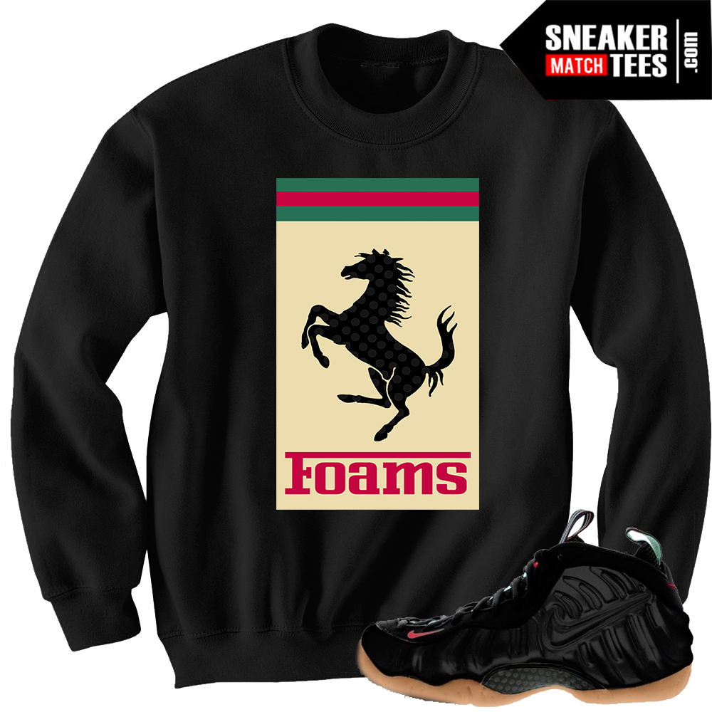 gucci foamposites matching clothing sweatshirts to match