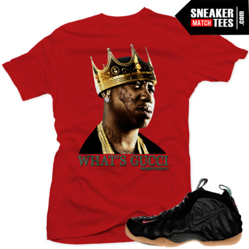 gucci foams matching gucci mane t shirt