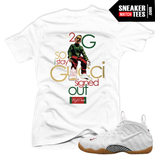Gucci Foams white matching t shirts