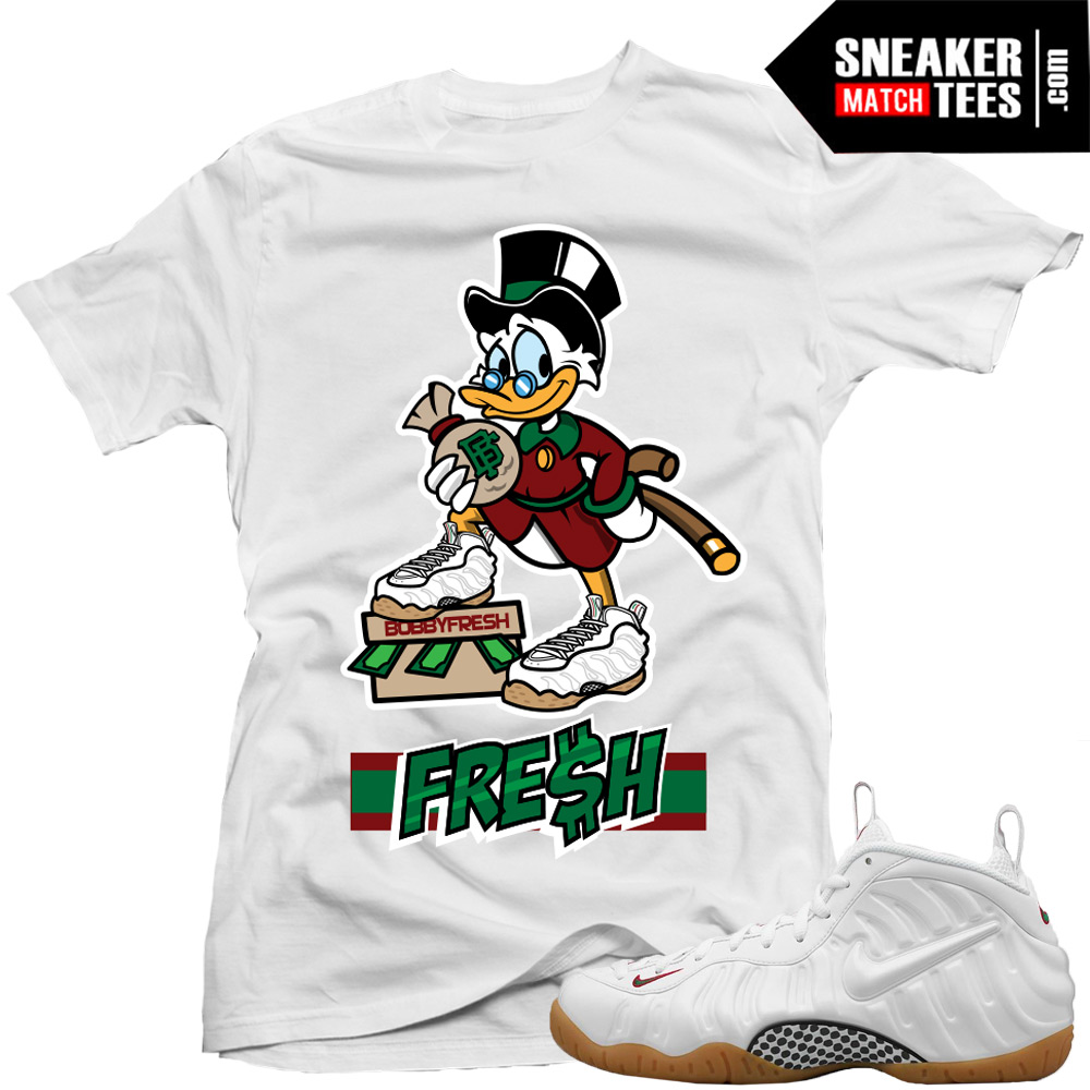 e1100f782d532a Shirts to match White Gucci Foamposites Nike Shirts