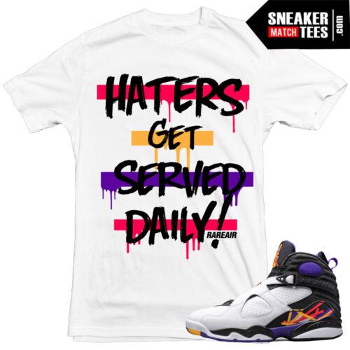 Sneaker Tees Match Jordan 8 3 peat