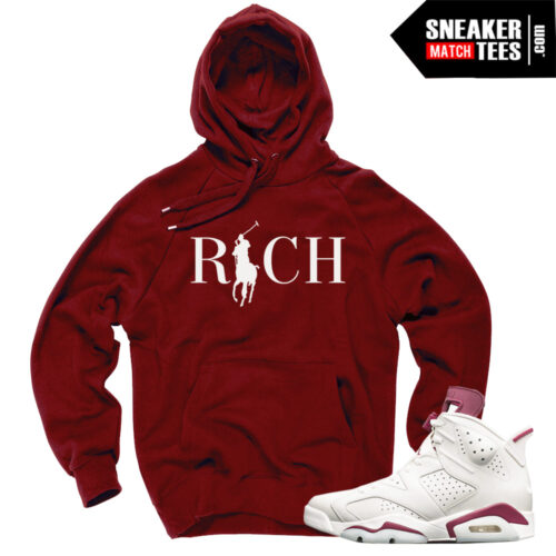 Hoodies to match Jordans 6 Maroon