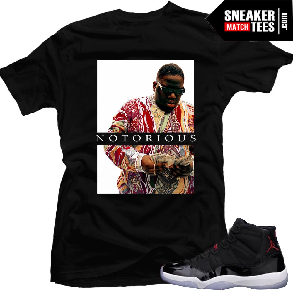 "2c239e39c86 Jordan 11 72-10 shirts to match ""Notorious"" |Black Tee"