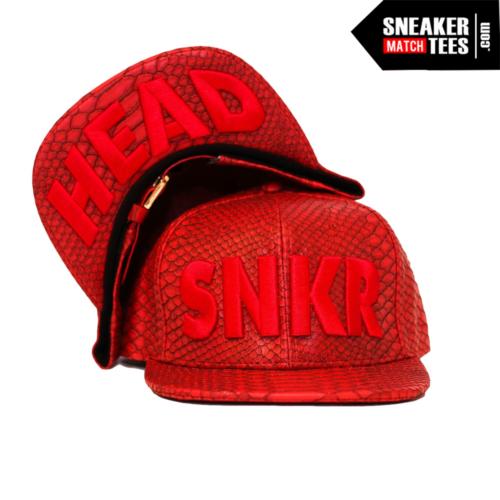 Snakeskin snapback strapback hat match Jordan Retro Sneakers