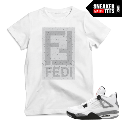 Cement 4 Jordan t shirts sneaker tees match