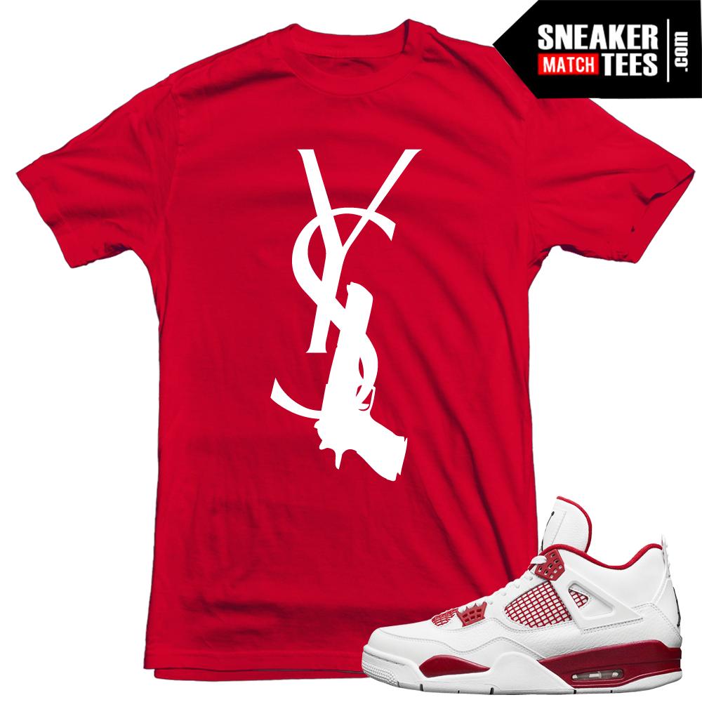 Matching jordan shirts alternate 89 4s sneaker match tees for Kicks on fire t shirt