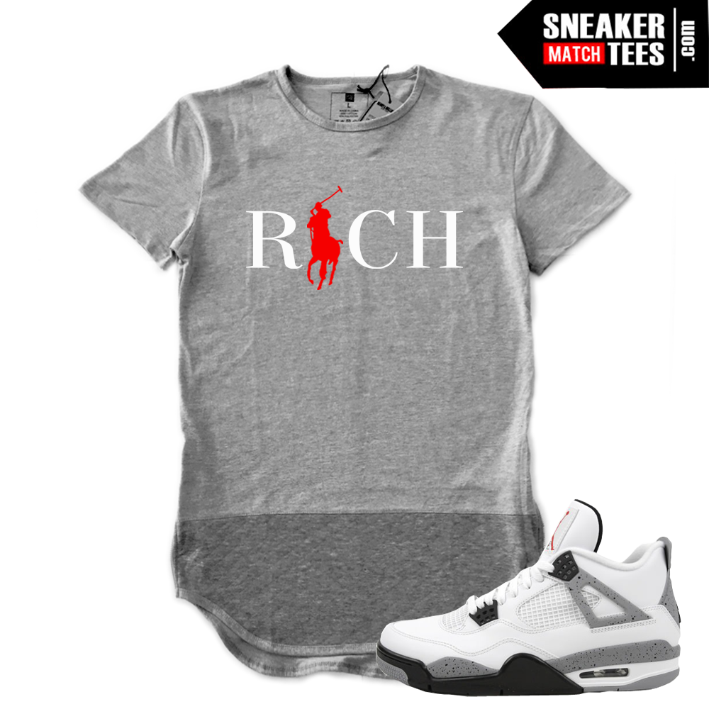 cement 4s shirt to match sneaker match tees. Black Bedroom Furniture Sets. Home Design Ideas