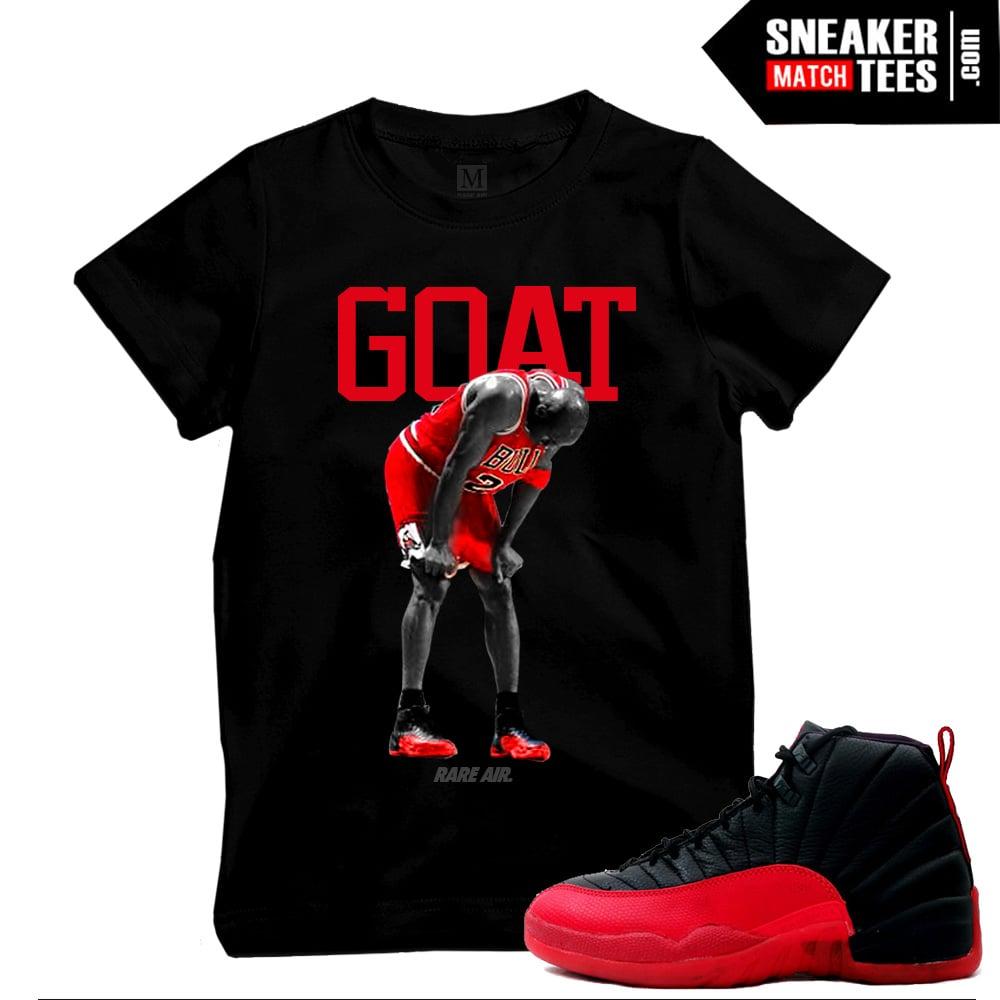 3f7eeed207c7b3 Flu Game 12s t shirts match sneakers