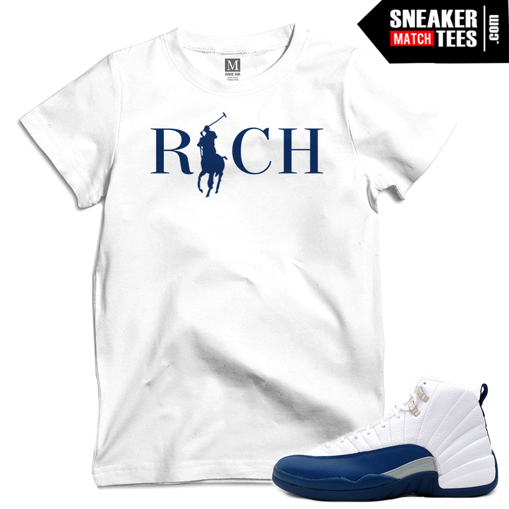 French Blue 12s Release Date Sneaker Tees Match | Sneaker Match Tees