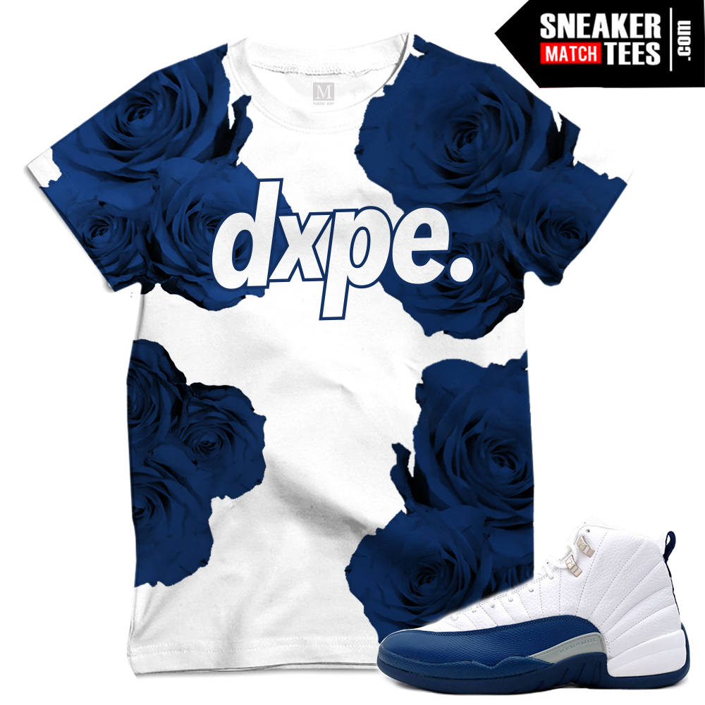 French blue xii t shirts sneaker match tees for French blue t shirt