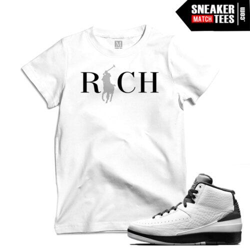 Jordan 2s Wing match t shirts