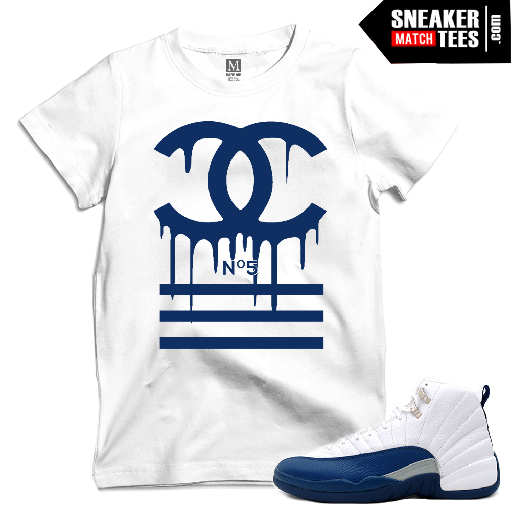 French Blue 12s Matching T Shirts Sneaker Match Tees