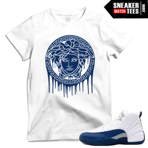 Match French Blue 12s t shirts