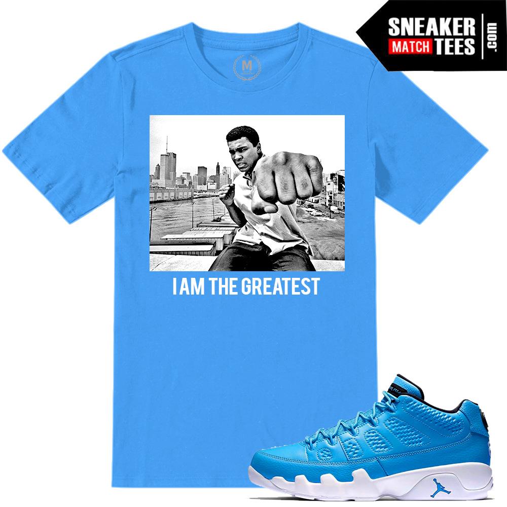 Mohammad Ali T shirt match Jordan 9 Pantone