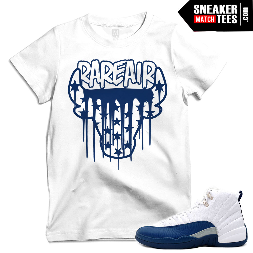 T shirts that match french blue 12s sneaker match tees for French blue t shirt
