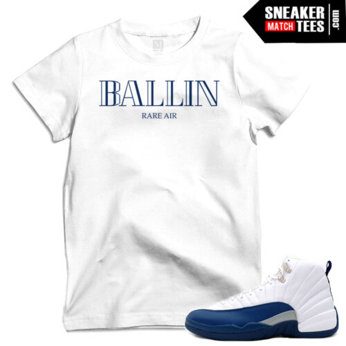 tee shirts to match Jordan 12 French Blue
