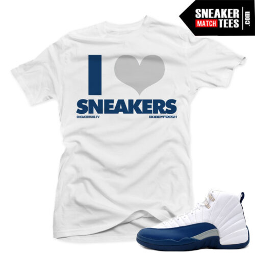 Jordan 12 French Blue match sneaker tees