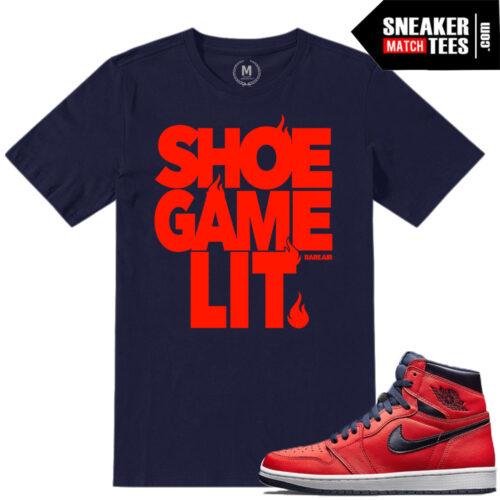 Match Jordan 1 Letterman tee shirts