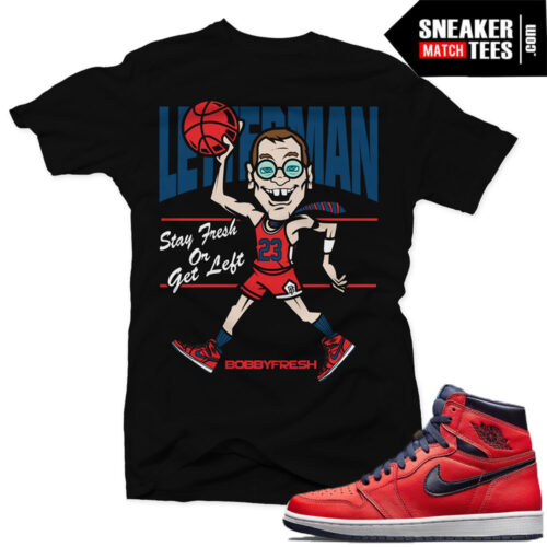 Match Letterman Jordan Retros 1 t shirts