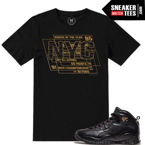 NYC 10s tee shirts match